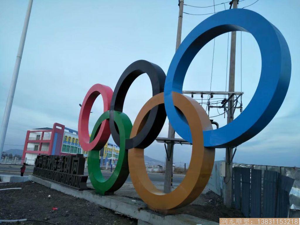 不锈钢奥运环雕塑,五环雕塑